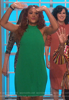 Eve's green halter dress on The Talk