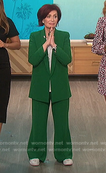 Sharon's green oversized blazer on The Talk