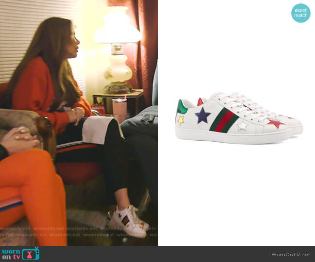 Ace Embroidered Sneaker by Gucci worn by LeeAnne Locken  on The Real Housewives of Dallas