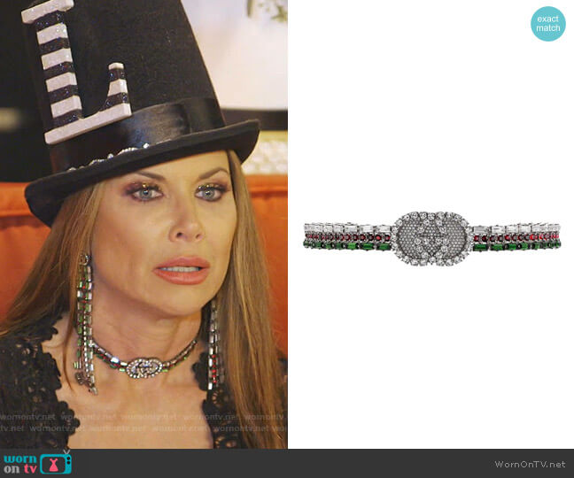 Crystal Web Choker by Gucci worn by LeeAnne Locken  on The Real Housewives of Dallas