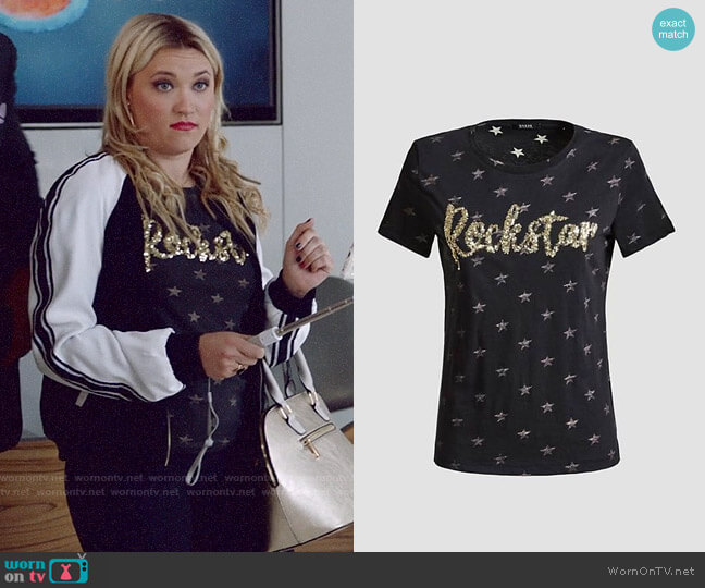 Guess Rockstar T-shirt worn by Roxy Doyle (Emily Osment) on Almost Family
