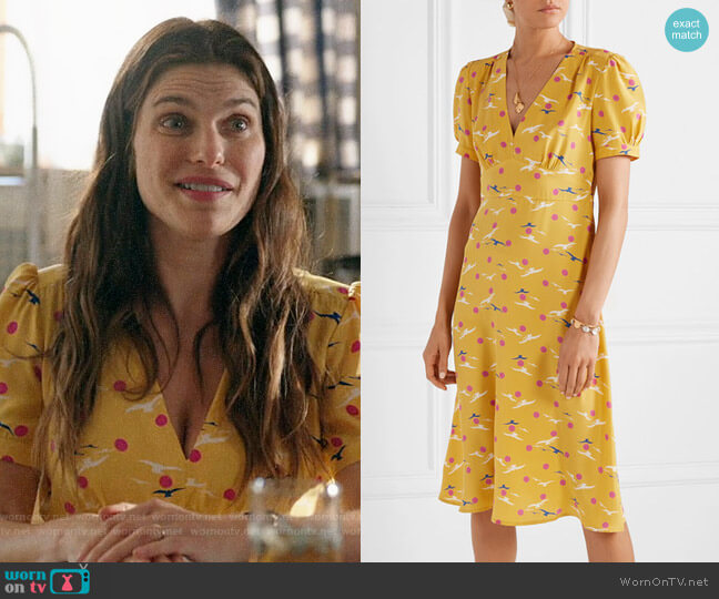 HVN Paula Dress worn by Rio (Lake Bell) on Bless This Mess