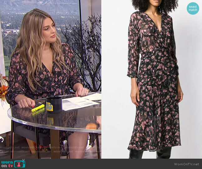 Floral Flared Midi Dress by Iro worn by Carissa Loethen Culiner  on E! News