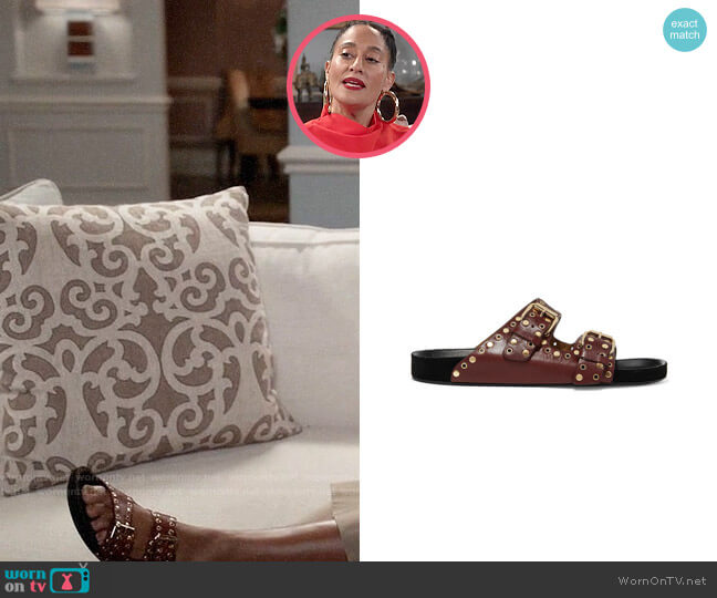 Isabel Marant Lennyo Slides worn by Rainbow Johnson (Tracee Ellis Ross) on Blackish
