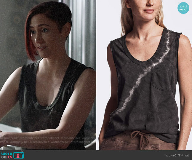 James Perse Tie Dye Tank Top worn by Alex Danvers (Chyler Leigh) on Supergirl