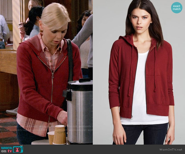 James Perse Vintage Cotton Hoodie worn by Christy Plunkett (Anna Faris) on Mom