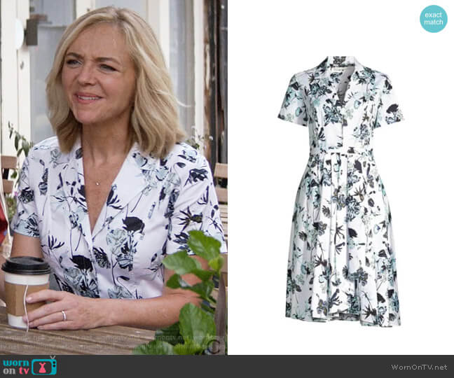 Jason Wu Collection Floral Print Shirt Dress worn by Susan (Rachel Bay Jones) on God Friended Me