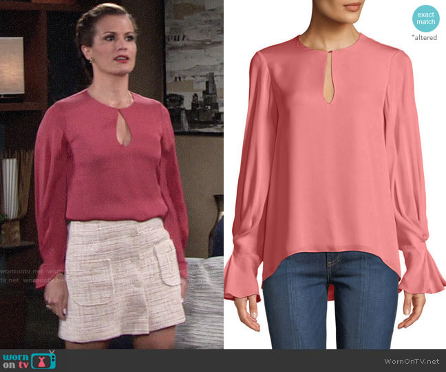 Joie Abekwa Top worn by Chelsea Lawson (Melissa Claire Egan) on The Young & the Restless