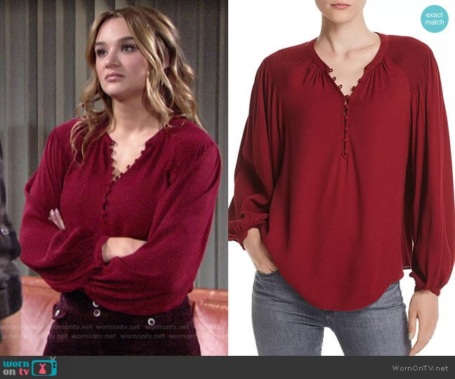 Joie Addalla Top worn by Summer Newman (Hunter King) on The Young & the Restless