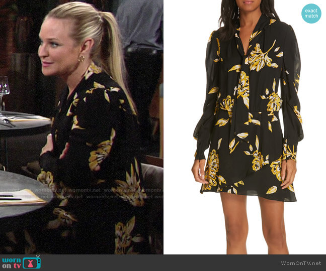 Joie Gyan Dress worn by Sharon Collins (Sharon Case) on The Young & the Restless