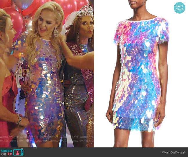 Paillette Sequin Cocktail Dress by Jovani worn by Kameron Westcott  on The Real Housewives of Dallas