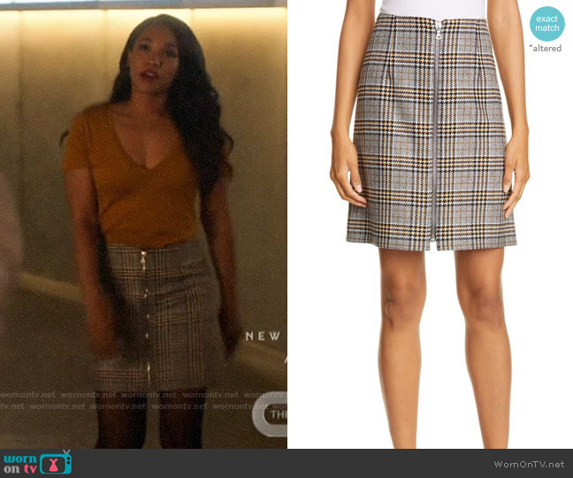 Judith & Charles Modica Check Plaid Skirt worn by Iris West (Candice Patton) on The Flash
