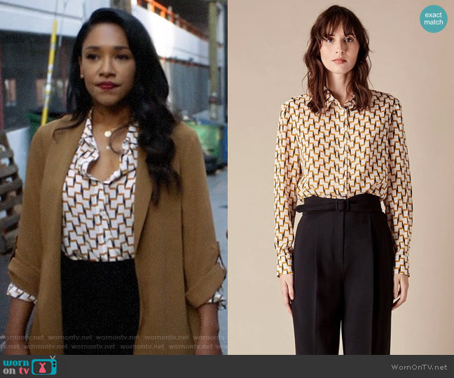 Judith & CHarles Lipari Blouse worn by Iris West (Candice Patton) on The Flash