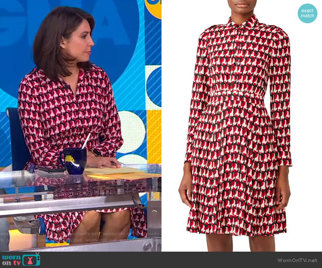 Crescent Shirtdress by Kate Spade worn by Cecilia Vega  on Good Morning America