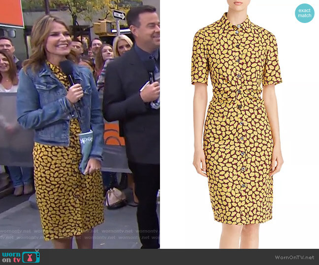 Sunny Bloom Shirtdress by Kate Spade worn by Savannah Guthrie  on Today
