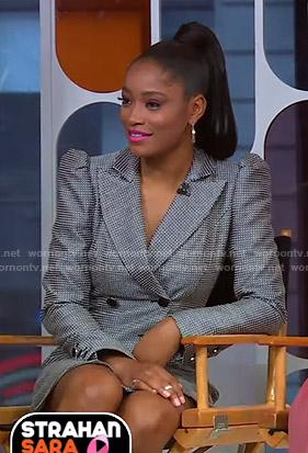 Keke's grey blazer dress on GMA Strahan Sara And Keke