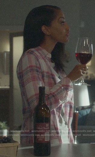 Kelly's plaid shirt on Supergirl