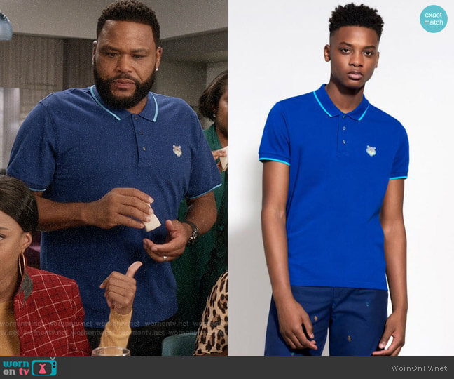 Kenzo Tiger Polo Shirt worn by Andre Johnson (Anthony Anderson) on Blackish