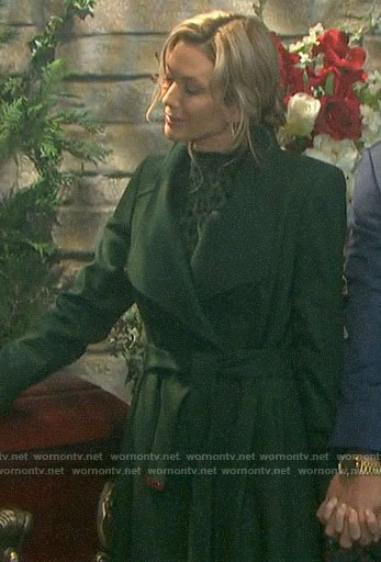 Kristen's dark green coat on Days of our Lives
