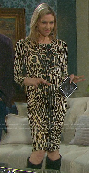 Kristen's leopard print dress on Days of our Lives