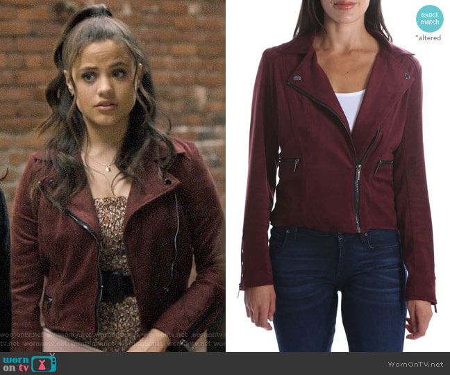 Kut from Kloth Eveline Jacket worn by Maggie Vera (Sarah Jeffery) on Charmed