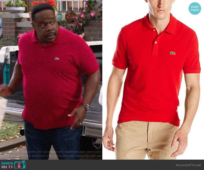 Lacoste Classic Red Polo Shirt worn by Calvin (Cedric The Entertainer) on The Neighborhood