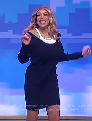 Wendy's layered sweater dress on The Wendy Williams Show