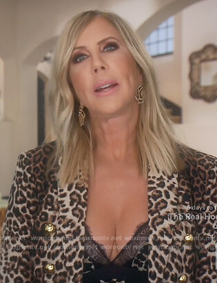 Vicki's leopard print blazer on The Real Housewives of Orange County