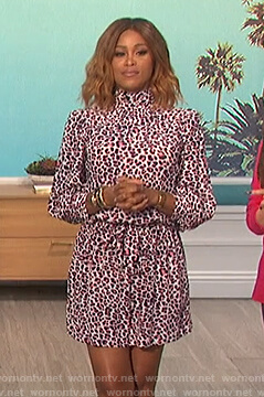 Eve's leopard print mini dress on The Talk