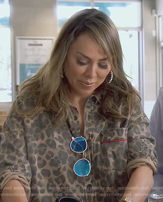 Kelly's leopard print shirt and pants on The Real Housewives of Orange County
