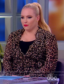 Meghan's leopard print midi dress on The View