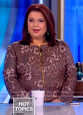 Ana's leopard leather jacket on The View