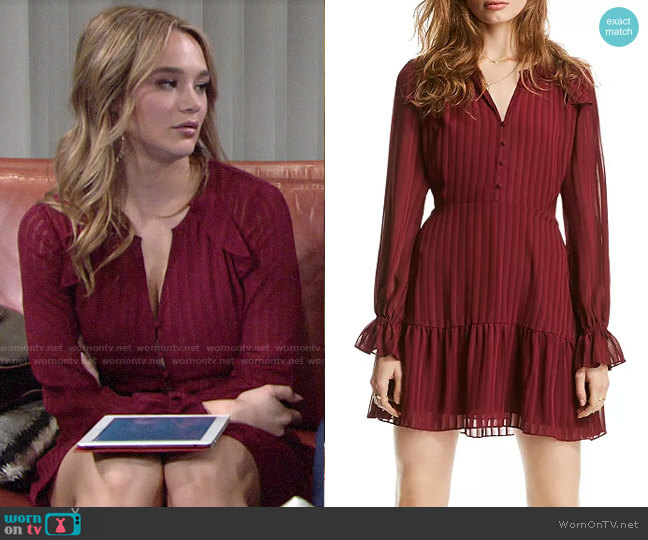 Lini Lucy Striped Flounced Dress worn by Summer Newman (Hunter King) on The Young & the Restless