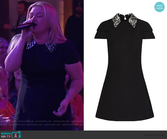Dress with Embroidered Printed Collar by Louis Vuitton worn by Kelly Clarkson  on The Kelly Clarkson Show