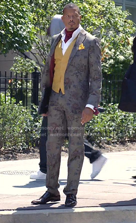 Lucious's grey floral suit on Empire