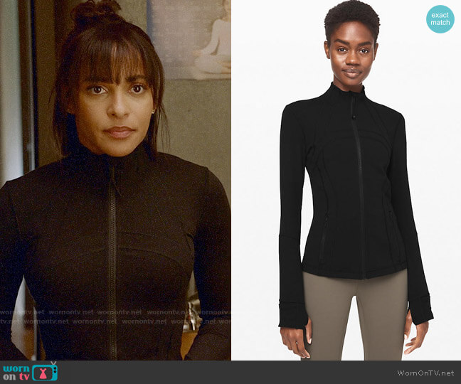 Lululemon Define Jacket worn by Edie Palmer (Megalyn Echikunwoke) on Almost Family
