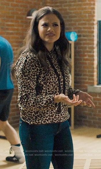 Maggie's leopard print hoodie on Charmed
