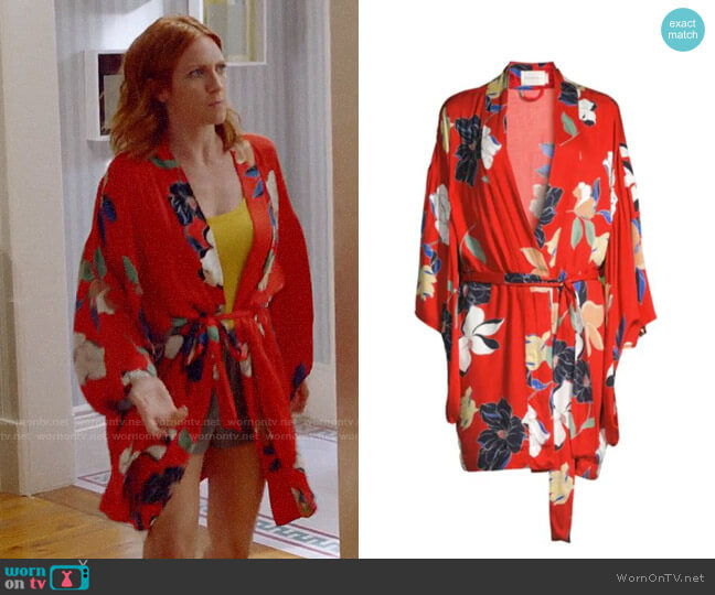 Maison du Soir Tokyo Floral Robe worn by Julia Bechley (Brittany Snow) on Almost Family