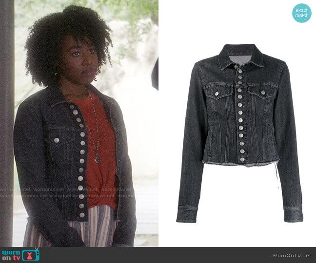 Mm6 Maison Margiela Frayed Hem Denim Jacket worn by Simone Garnett (Kirby Howell-Baptiste) on The Good Place