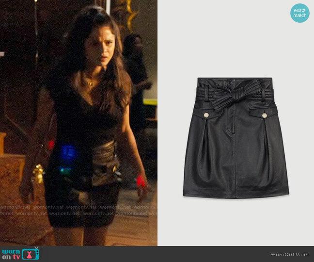 Maje Jivac Leather Skirt worn by Mel Vera (Melonie Diaz) on Charmed