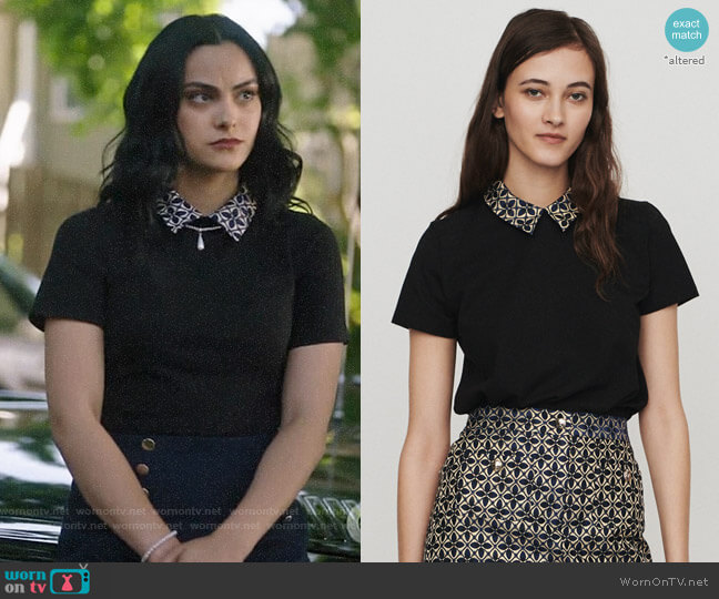 Maje Tivoli Top worn by Veronica Lodge (Camila Mendes) on Riverdale
