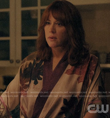 Mary's leaf print robe on Riverdale