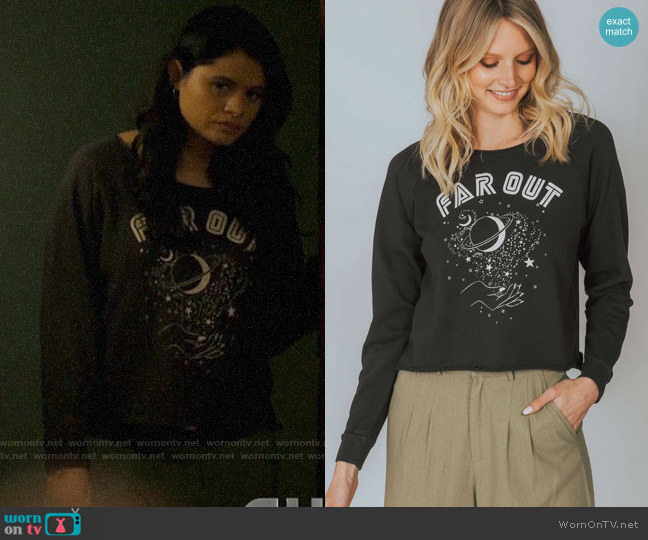 Mate the Label The Donny Pullover in Far Out worn by Mel Vera (Melonie Diaz) on Charmed