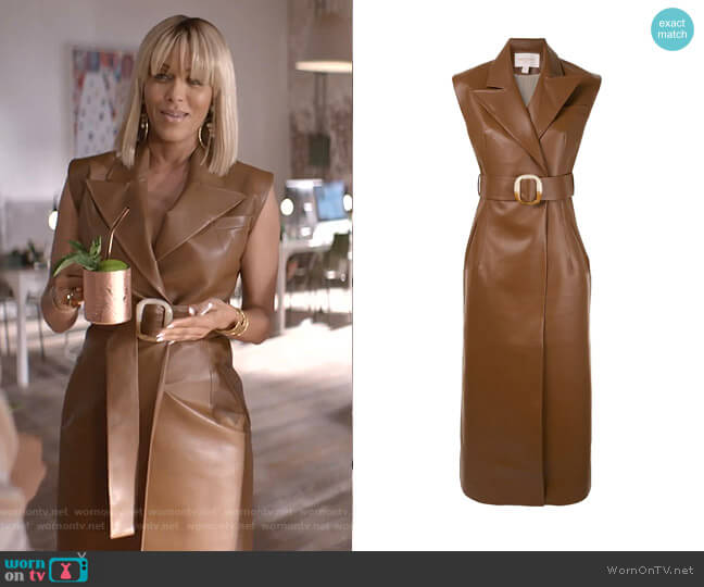 Belted Longline Vest by Materiel worn by Giselle (Nicole Ari Parker) on Empire