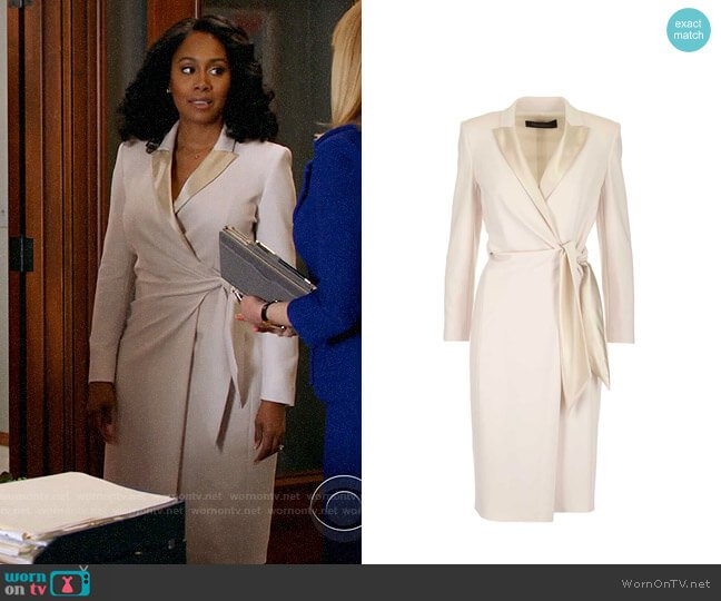 Max Mara Long Sleeve Wrapped Knot Dress worn by Lola Carmichael (Simone Missick) on All Rise
