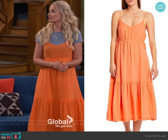 Michael Stars Giovanni Dress in Camilla worn by Gemma (Beth Behrs) on The Neighborhood