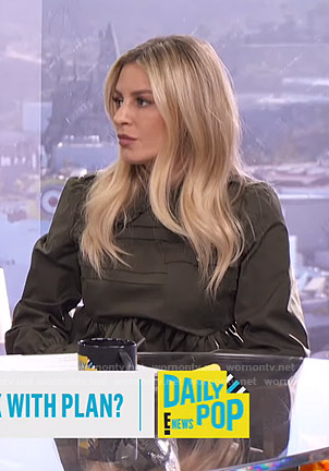Morgan's green pleated mini dress on E! News Daily Pop