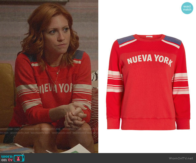 Mother Nueva York Sweatshirt worn by Julia Bechley (Brittany Snow) on Almost Family