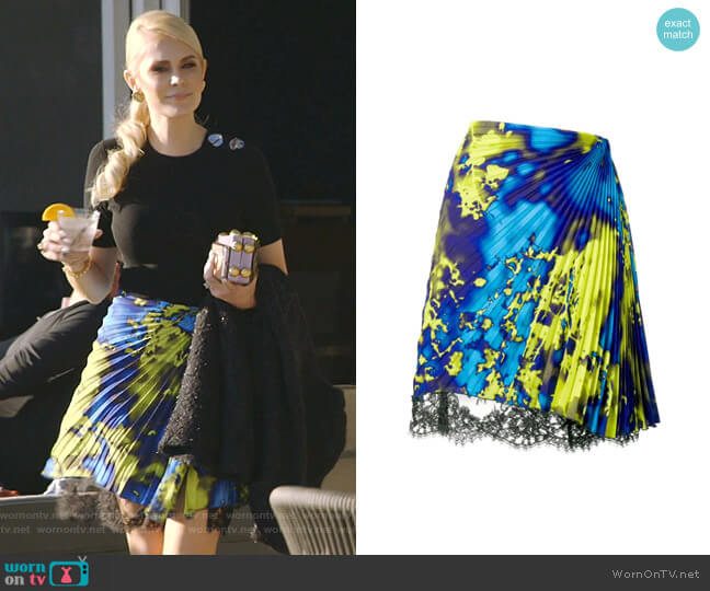 Micro Pleated Skirt by MSGM worn by Kameron Westcott  on The Real Housewives of Dallas