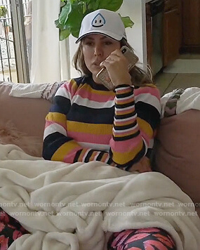 Kelly's striped sweater on The Real Housewives of Orange County